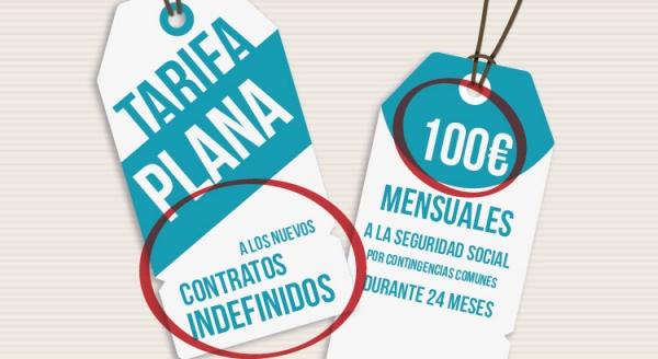La tarifa plana de 100 €…se prorroga hasta marzo